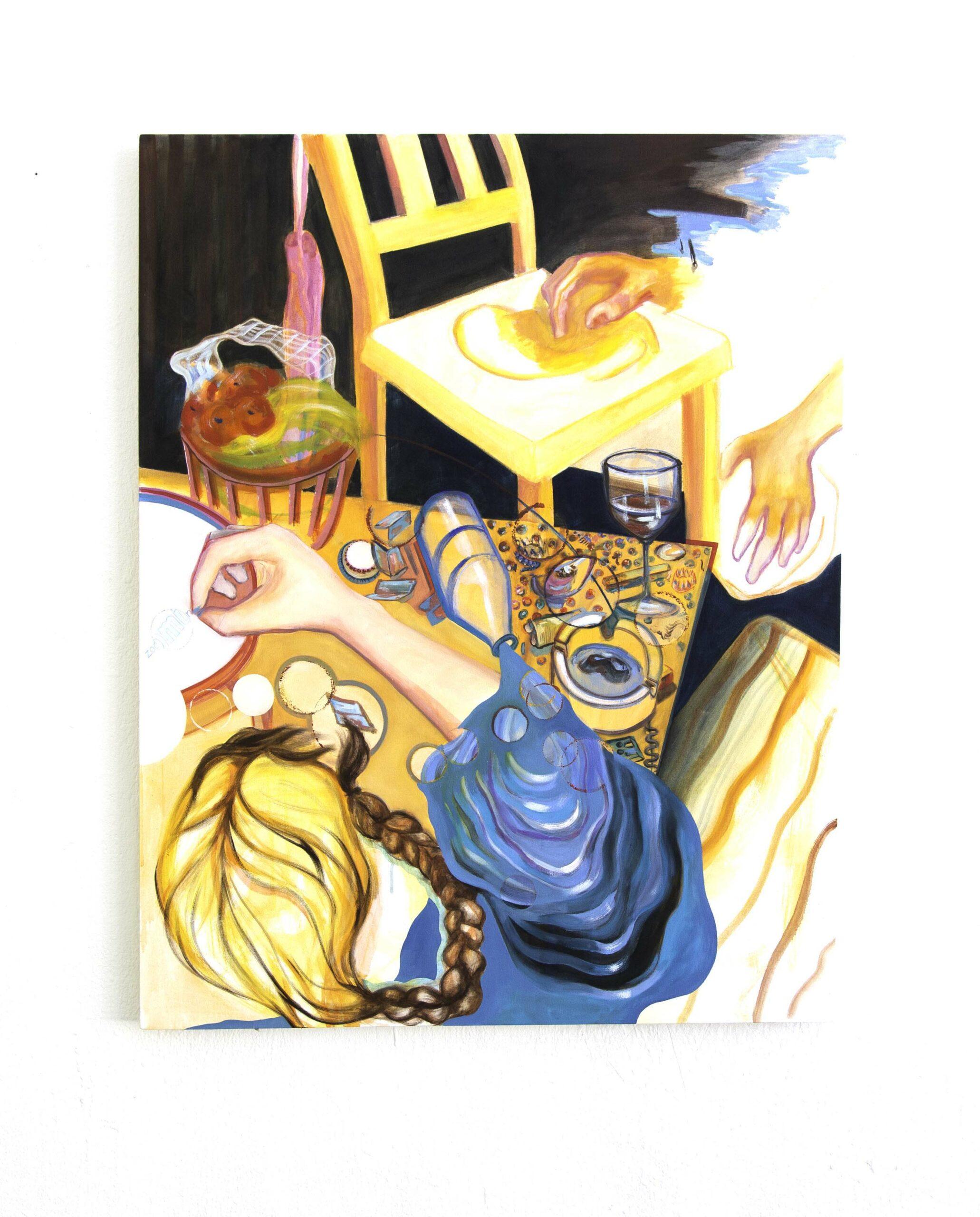the activity night, 100x140 cm, oil on canvas