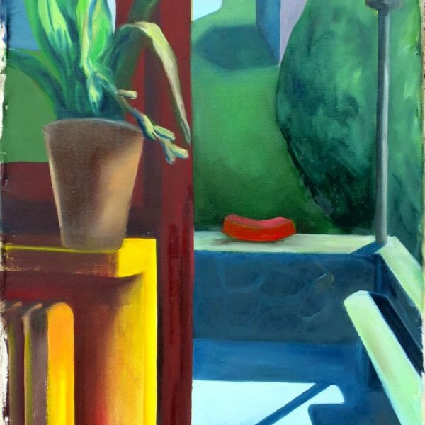 leave your shoes outside, 60x160cm, oil on canvas